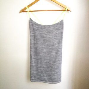 LULULEMON Grey with neon details Tank Top, size 10